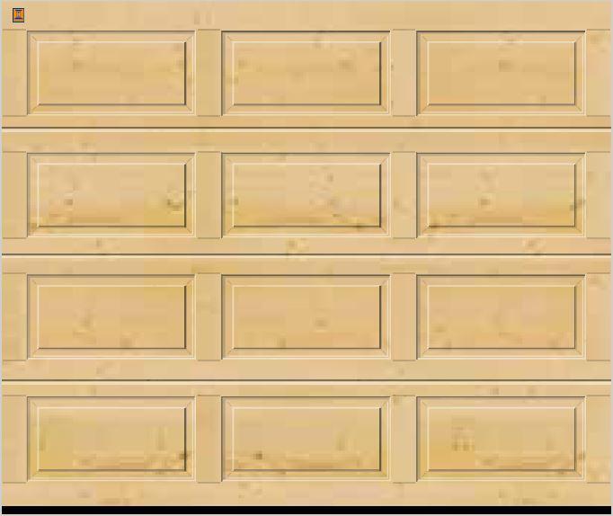 Panelled Nordic Pine Sectional Garage Doors Garage Doors